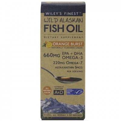 Wiley's Finest Orange Burst Fish Oil 250ml