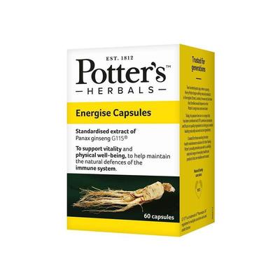 Potter's Herbals Energise 60 Capsules