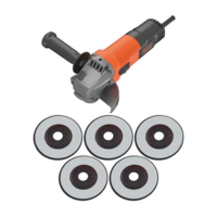 Image of Black & Decker BEG110A5 750W 115mm Angle Grinder with 5 Cutting Discs