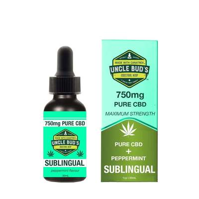 Uncle Buds 750mg Peppermint Pure CBD Oil 30ml