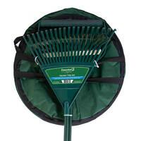 Charles Bentley Garden Tidy Set - Rake, Broom, Shovel Pan and Pop Up Bag