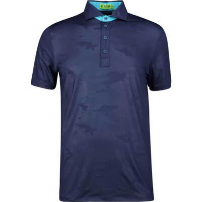 GFORE Golf Shirt Camo Embossed Polo Twilight SS19