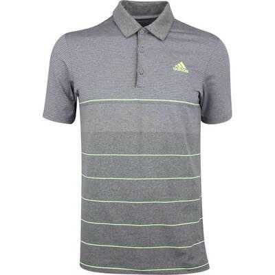 Adidas Golf Shirt Ultimate365 Heather Stripe Grey Five SS19