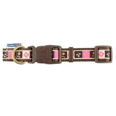 Ancol Adjustable Chocolate Squares Collar