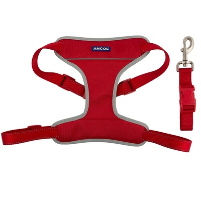 Ancol Travel & Exercise Harness - Red