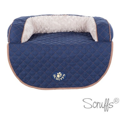 Scruffs Blue Wilton Sofa Pet Bed