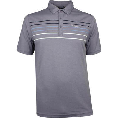 TravisMathew Golf Shirt Malm Polo Heather Cadet SS19