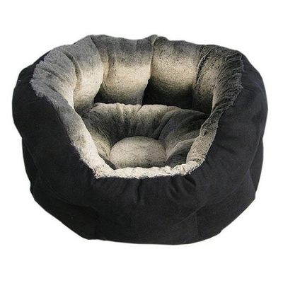 Lazy Bones Jet Set Black Ash Oval Dog Beds