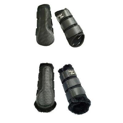Back on Track® 3D Horse / Equine Mesh Brushing Boots - Neoprene Black Small