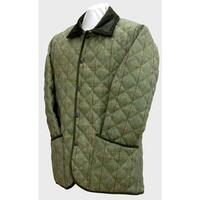 Beaver Mens Green Quilted Country Tweed Coat / Jacket - S