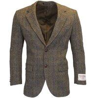 Harris Tweed Mens Clinton Brown Herringbone Checked Blazer / Jacket - 38