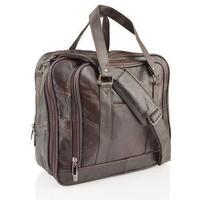 Lorenz Unisex Expandable Square Messenger Bag - Black