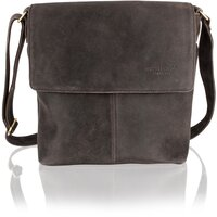 Woodland Leather Unisex Crackle Leather Messenger Bag - 14-Inch Laptop - Crackle