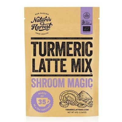 Natures Harvest Turmeric Latte Mix Shroom Magic 67g