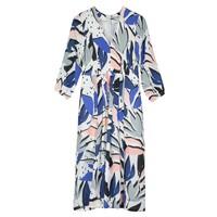 Ingrid Midi Silk Dress - Block Print