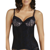 Pleasure State Aubrey Rose Corset Basque Caviar/Black Iris