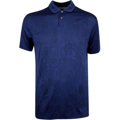 Nike Golf Shirt Vapor Floral Jacquard Blue Void SS19