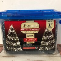 1320 Multi Function LED Bright White Cluster Christmas Lights by Jingles