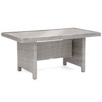Kettler Palma Casual Dining Glass Top Table White Wash