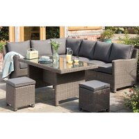 Kettler Palma Corner Rattan Outdoor Sofa Set