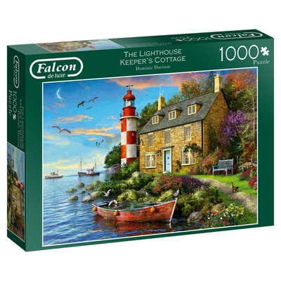 Jumbo Falcon De Luxe 11247 Lighthouse Keepers Cottage 1000 Piece Jigsaw Puzzle