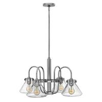 Hinkley Lighting &pipe; Congress 4 Light Clear Glass Chandelier - Chrome