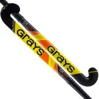 Image of Grays GX2000 Ultrabow Micro Junior Composite Hockey Stick 2019 Yellow/Black #32 inch