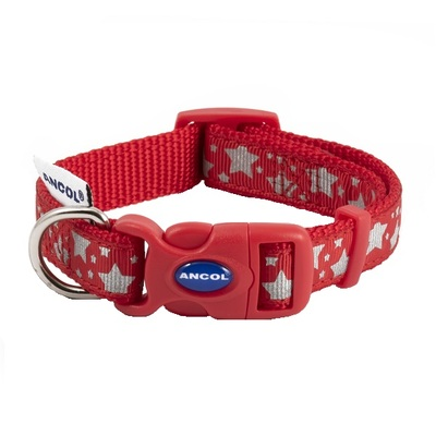 Ancol Reflective Stars Dog Collar