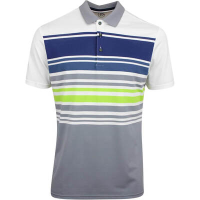 Galvin Green Golf Shirt Miguel White Lime AW19