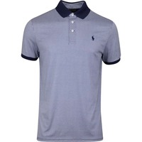 Ralph Lauren POLO Golf Shirt - Printed Gingham - French Navy AW19