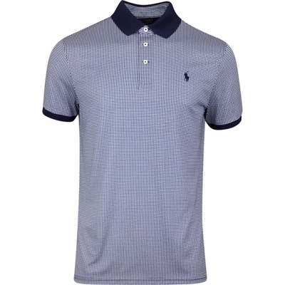 Ralph Lauren POLO Golf Shirt Printed Gingham French Navy AW19