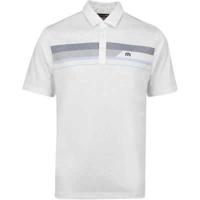 TravisMathew Golf Shirt Gone Fishing Polo White AW19