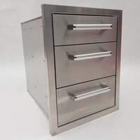 Draco Grills Stainless Steel Build-in Outdoor Kitchen Triple Drawer Unit