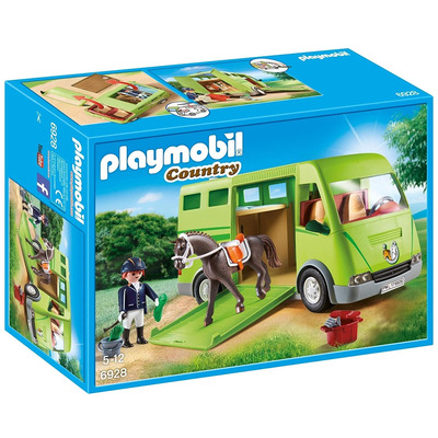 Playmobil Country Horse Box With Opening Side Door