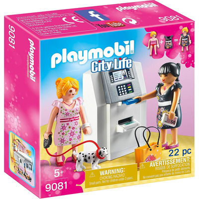 Playmobil ATM With Functional Cash Serving Mechanism