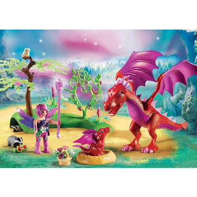Playmobil Fairies Friendly Dragon With Baby