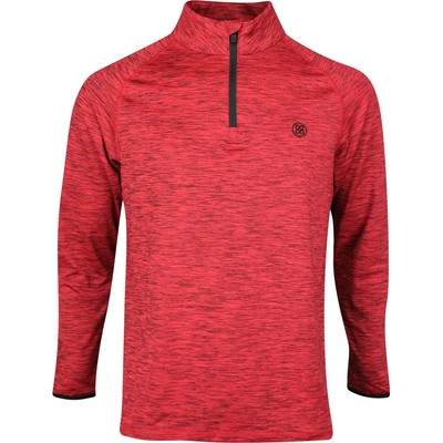 GFORE Golf Pullover Space Dye Mid Cadmium Red SS20