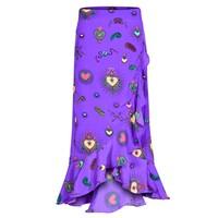 Mia Wrap Skirt - Purple