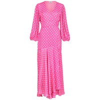 Vundamental Polka Dot Wrap Dress - Pink