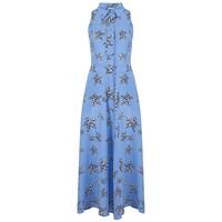 Penrose Silk Dress - Leopard Star Sea