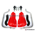 Pit Bike Reinforced Hand Guards - Red - Throttles / Twistgrips / Controls