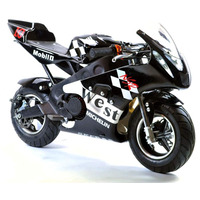 Image of FunBikes MT4A 50cc 46cm Black Mini Moto Racing Bike
