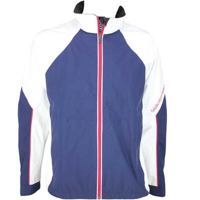 Galvin Green Amos Waterproof Golf Jacket White Midnight Blue