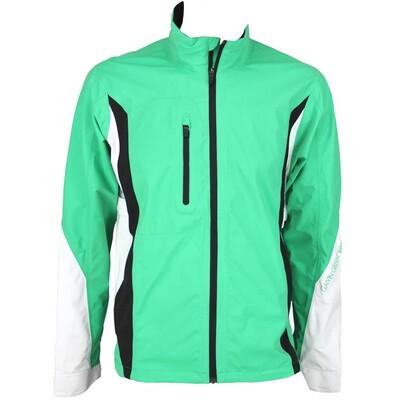 Galvin Green Aron Waterproof Golf Jacket Emerald Green White