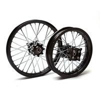 Pit Bike Wheel Rims 14/12 SDG CNC Black Hub