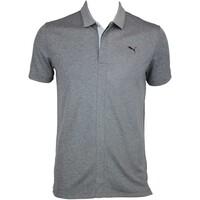 Puma LUX Blend Golf Shirt Dark Grey Heather AW15