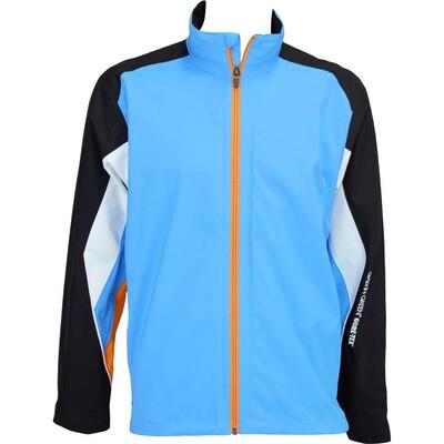 Galvin Green Aston Waterproof Golf Jacket Summer Sky Black Fire