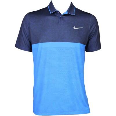 Nike Modern Fit Momentum Camo Golf Shirt Photo Blue AW15