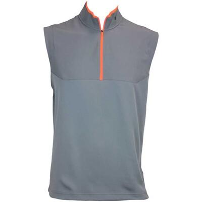 Nike Dri Fit Half Zip Sleeveless Golf Pullover Dark Grey AW15