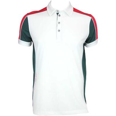 Galvin Green Manning Ventil8 Golf Shirt White Racing Green AW15